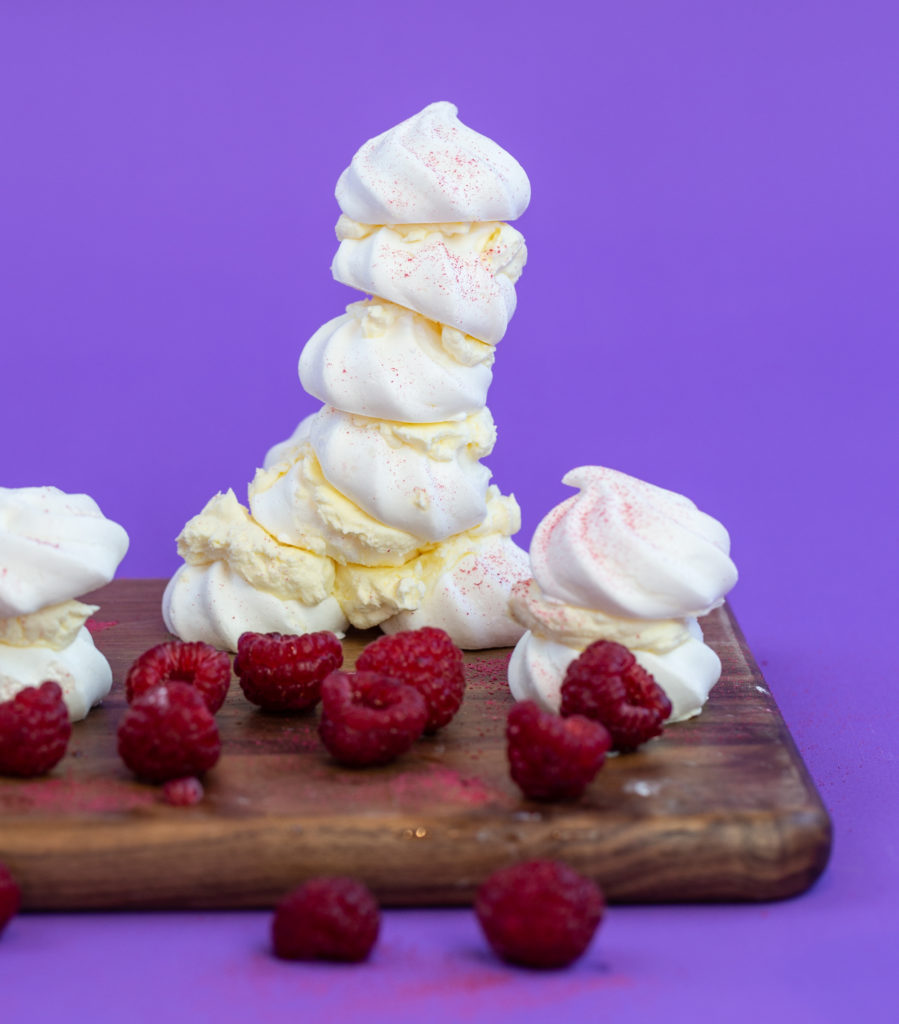 Meringue towers - image taken from Snackable Science - Edible Science for Kids