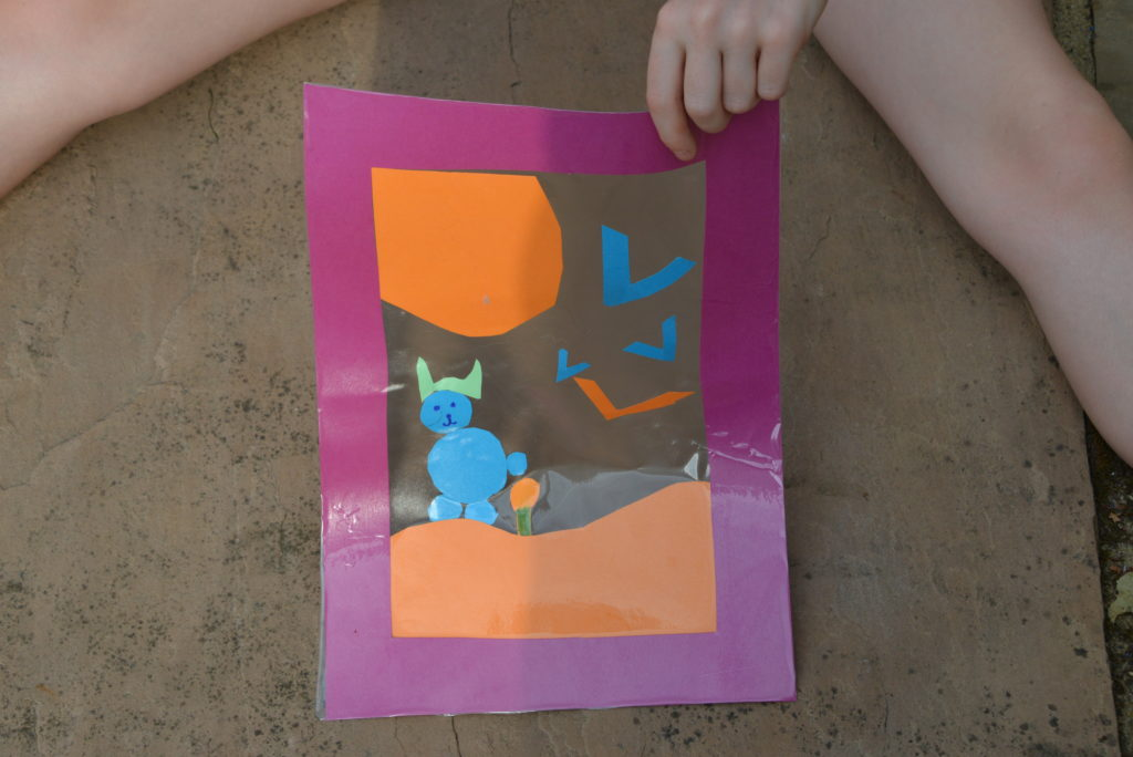 Shadow Frame for a summer science experiment