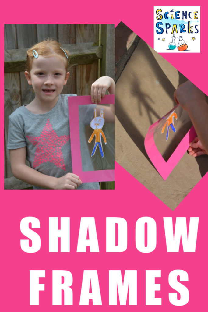 Shadow frame made from cardboard, for learning about shadows with kids #shadows #shadowscience