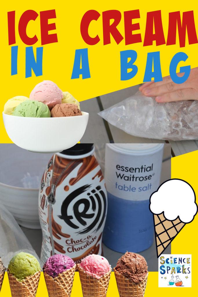 Make homemade ice cream in a bag