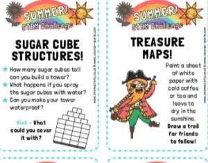 FREE STEM Challenge card printables