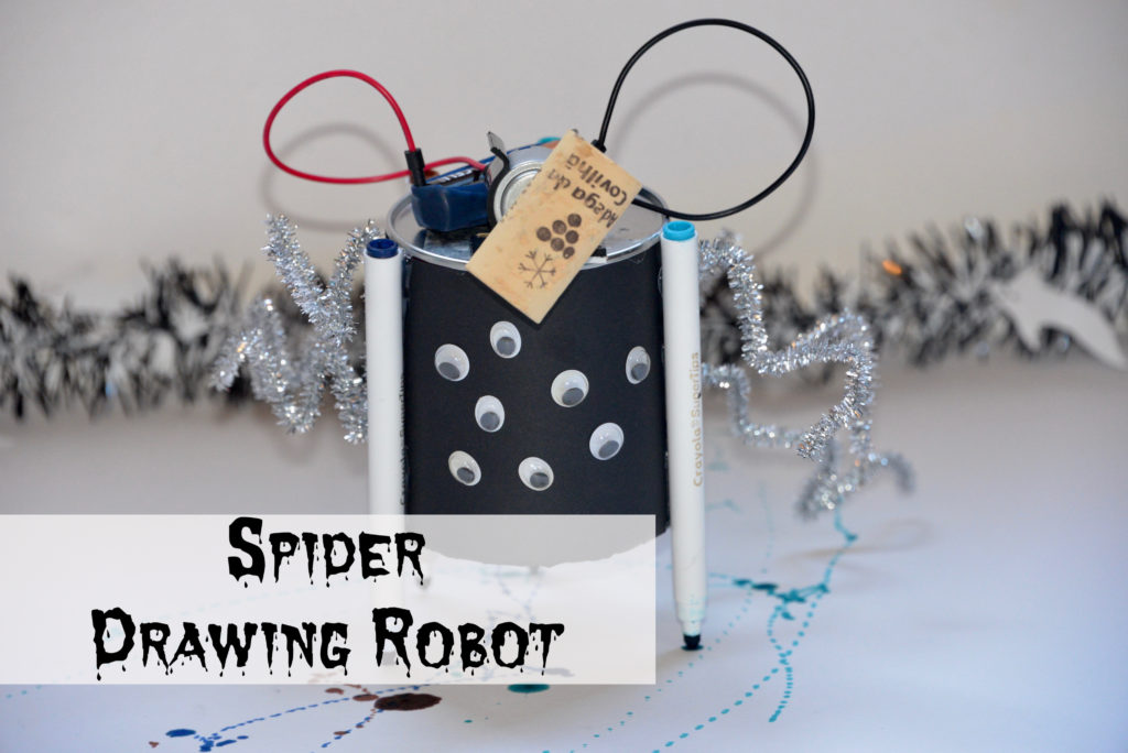 Spider drawing robot as a fun circuit activity for kids