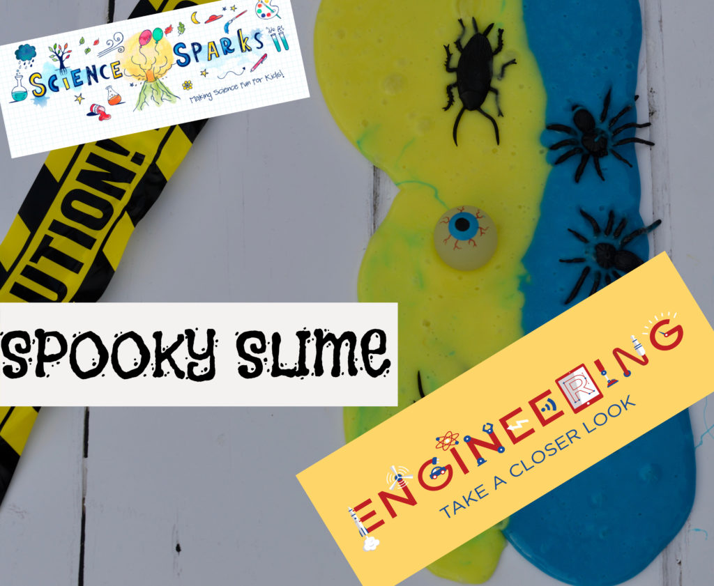 Spooky Slime made with no borax