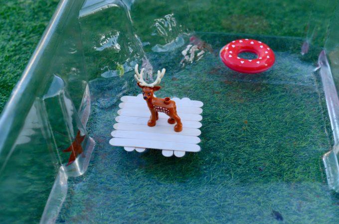 Christmas STEM - raft for reindeer