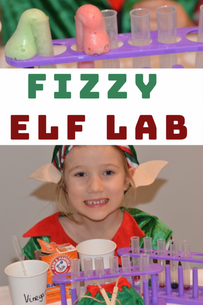 Fizzy Elf Lab - Christmas Science for kids #ElfActivities #Elfideas #christmasscience