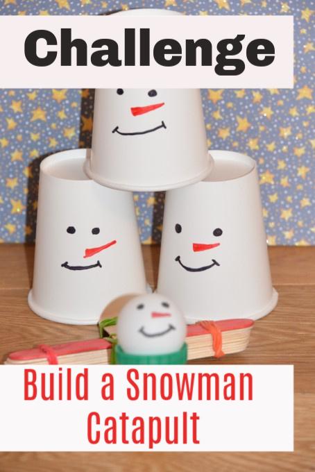 Snowman catapult