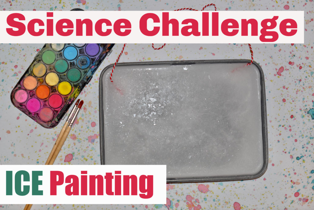 STEM Challenge - ice painting