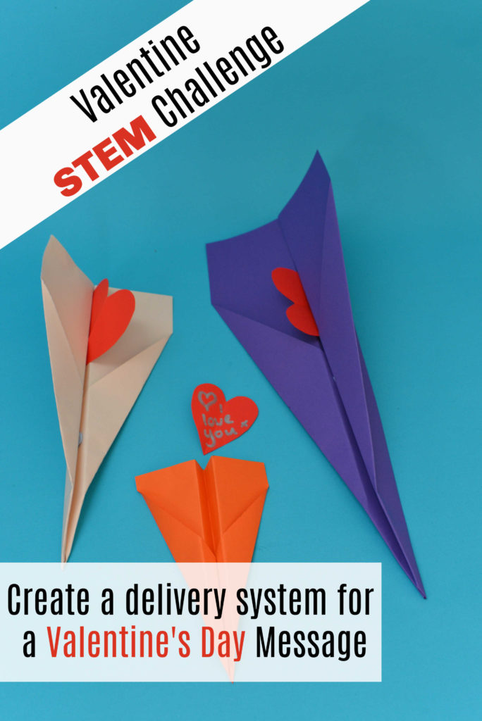 STEM Challenge for Valentine's Day - make a delivery system for a Valentine message