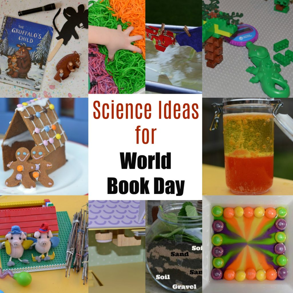 Awesome science activity ideas for World Book Day. Fairy Tale science experiments, Roald Dahl experiments and lots more easy book themed science for kids #WorldBookDay #ScienceforKids #MakingScienceFun