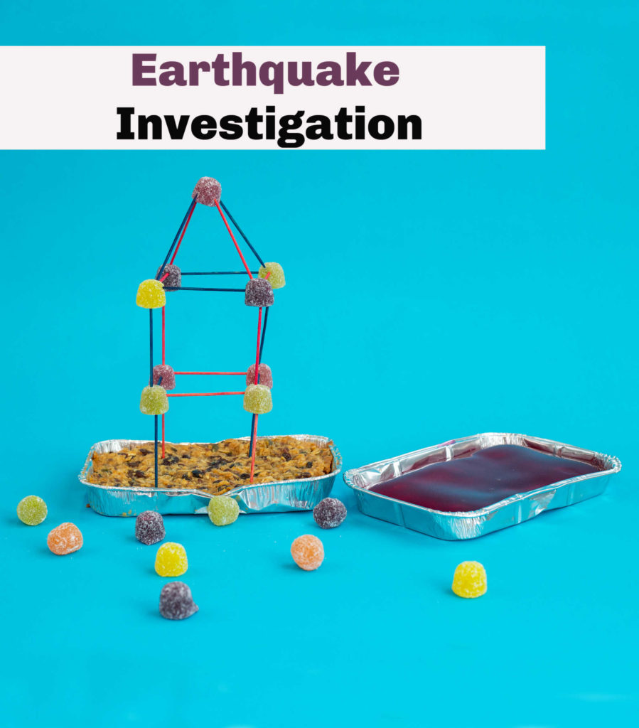 Earthquake investigation - image taken from Snackable Science