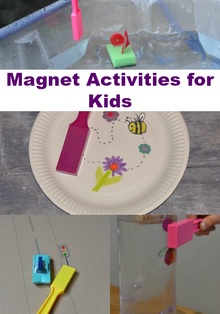 Collection of easy magnet activities for kids