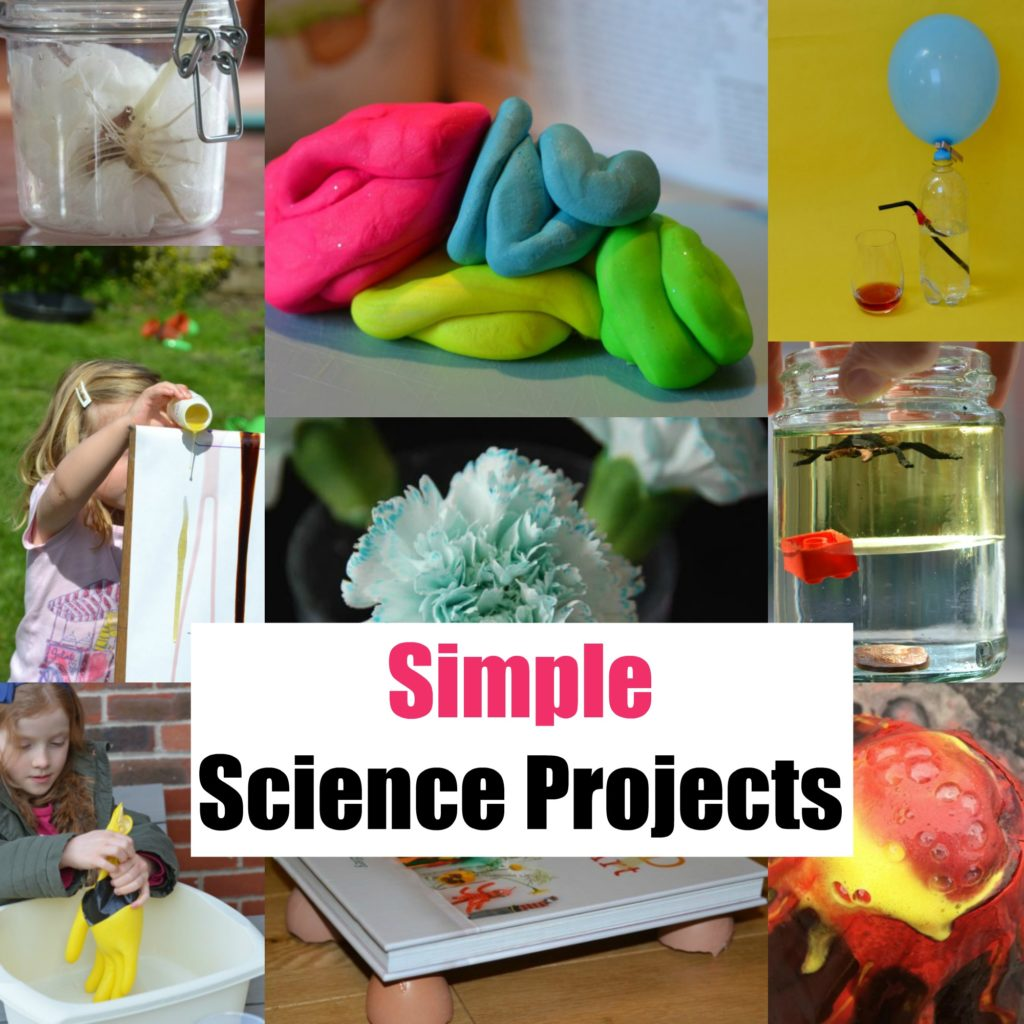 Awesome science projects - includes model brain, bean in a jar, air pressure demo and more.Simple science projects for kids #scienceprojects #scienceforkids