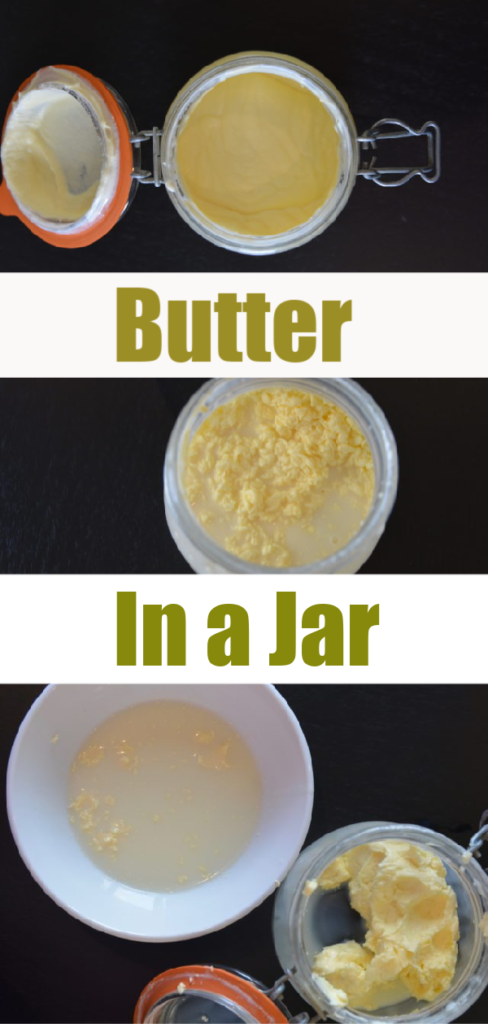 How to make butter at home - butter in a jar from cream #kitchenscience #scienceforkids