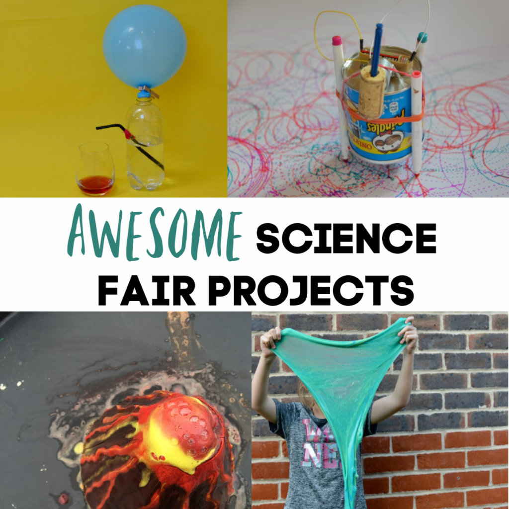 Awesome Science Fair Projects, make slime, art bots, a drinks dispenser and more science experiments for kids