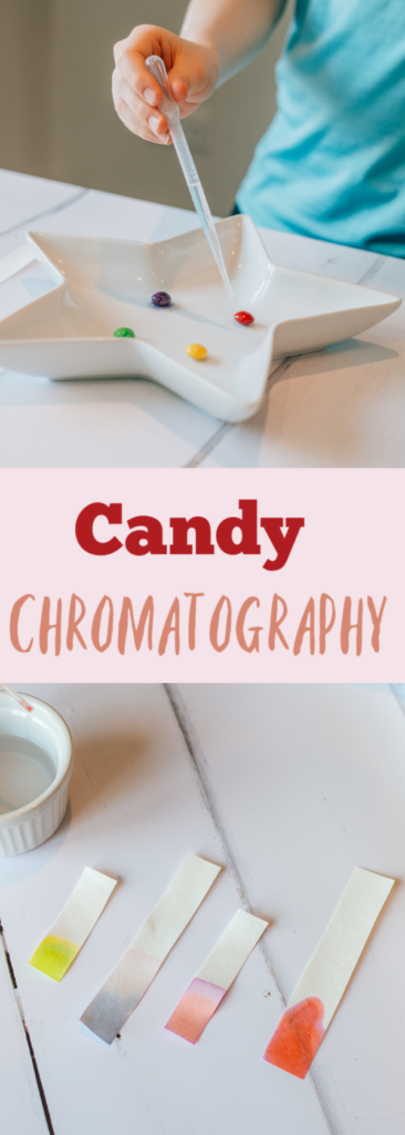 Easy Candy Chromatography experiment. Discover how to separate mixtures with this easy chromatography experiment. #scienceforkids #candyscience #candyexperiments