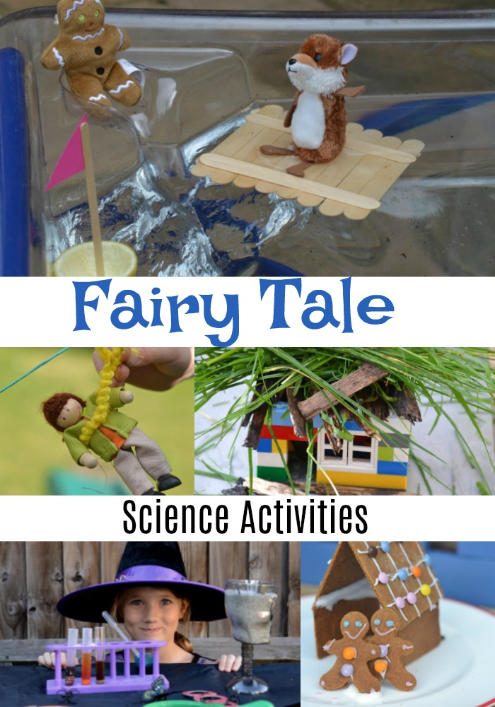 Huge collection of fun fairy tale science experiments for kids and fairy tale activities for kids. Make a zip wire for Jack, a raft for the Billy Goats and a new house for the Three Little Pigs #scienceforkids #fairytales #traditionaltales #fairytaleactivities