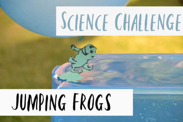 Jumping frogs STEM Challenge - static electricity experiment for kids #scienceforkids #coolscience
