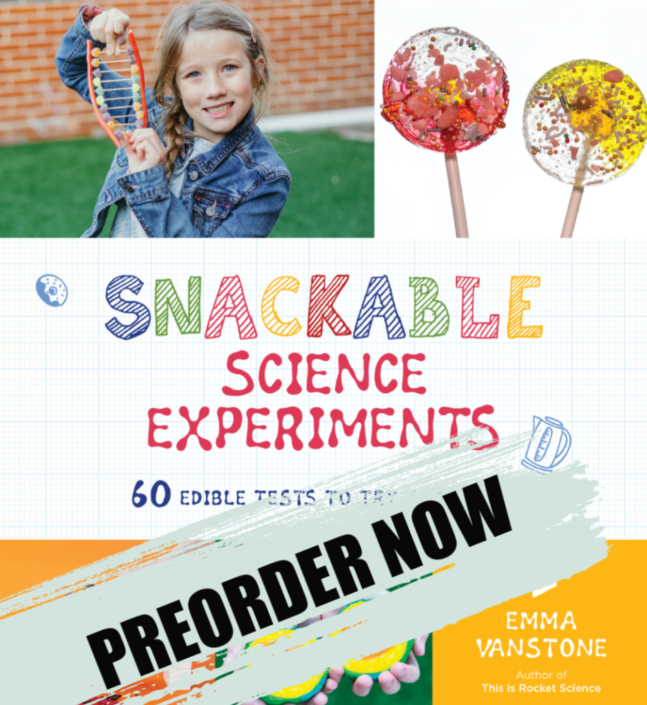 Snackable Science Cover - 60 edible science experiments for kids #scienceforkids #snackablescience
