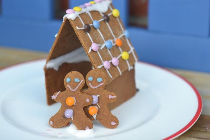 Homemade easy gingerbread house