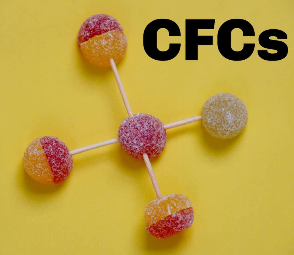 CFC molecule - global warming