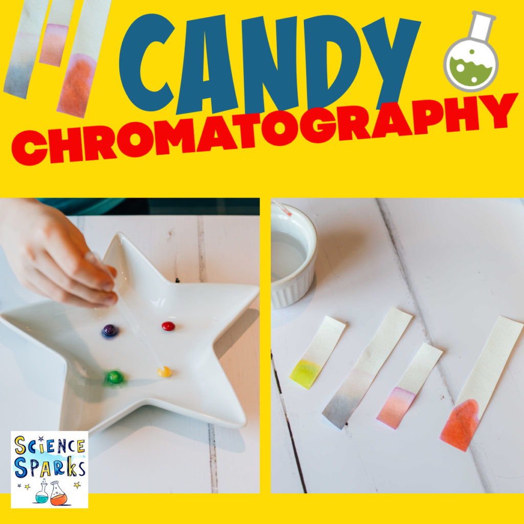 Candy chromatography experiment
