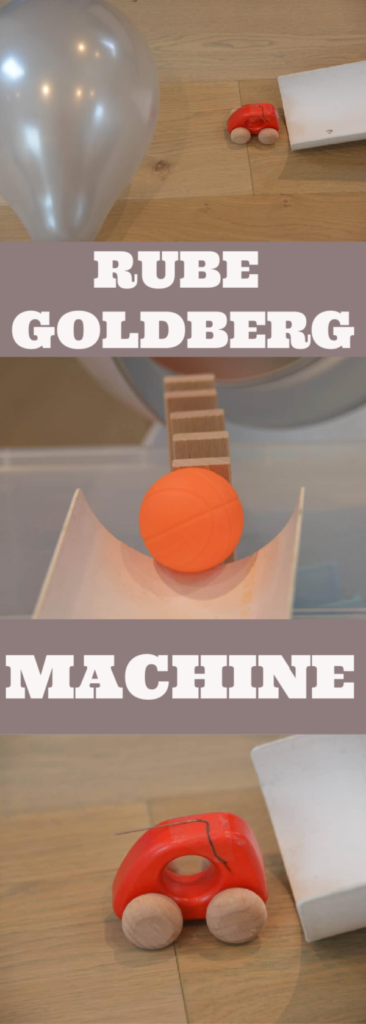 Make a Rube Goldberg Machine - fun chain reaction challenge for kids. #scienceforkids #rubegoldberg #easyscienceforkids