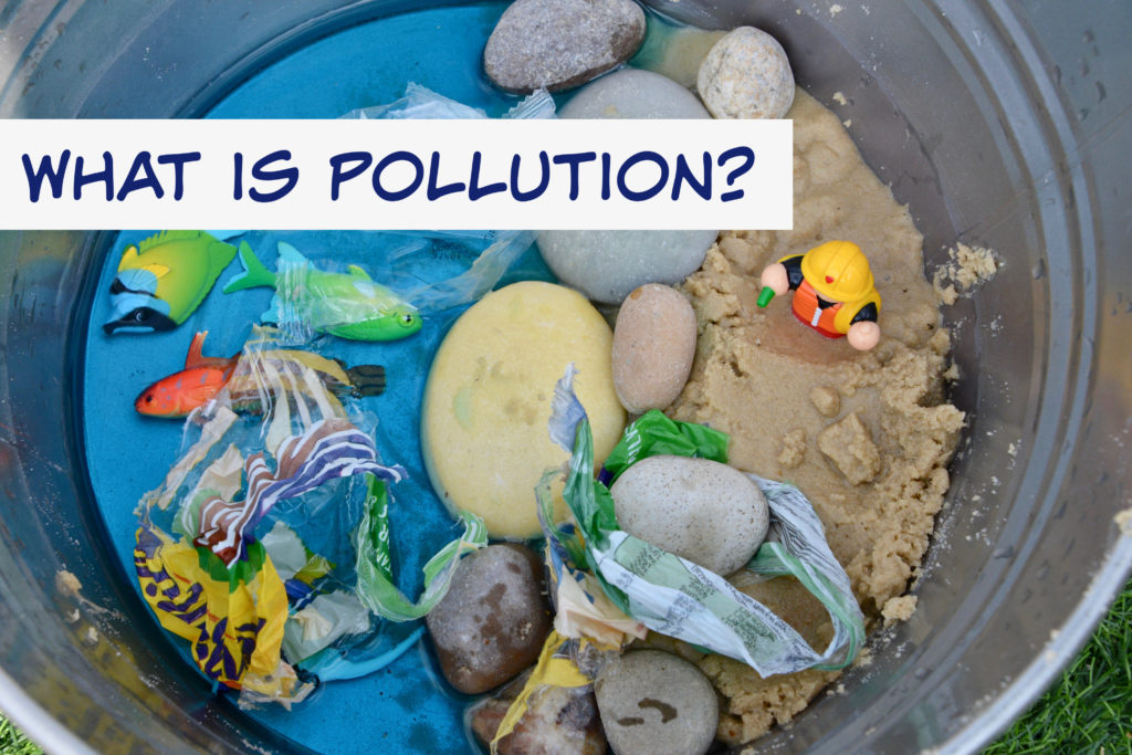 What is pollution? Easy visual demonstration for kids.