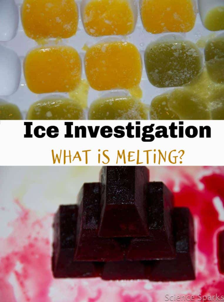 Easy ice investigation. What is melting?? #scienceforkids #iceexperiments #whatismelting