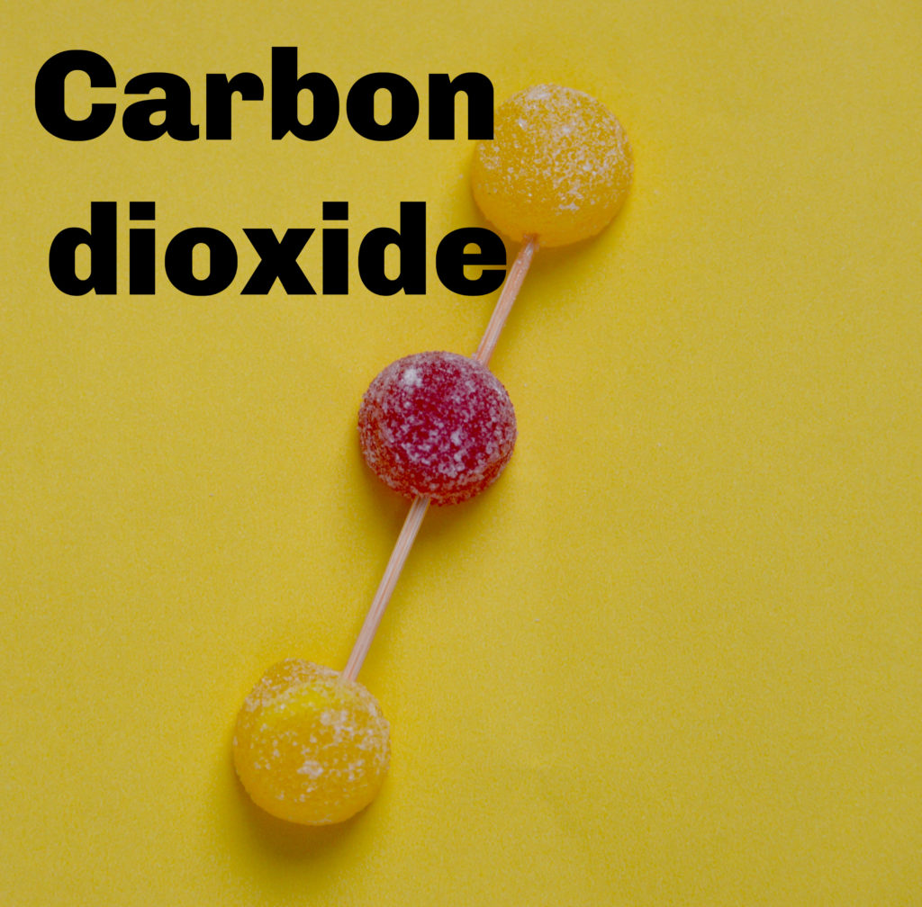 Carbon Dioxide model - greenhouse gas - global warming