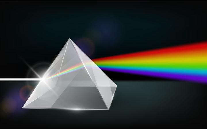 How to split white light with a prism