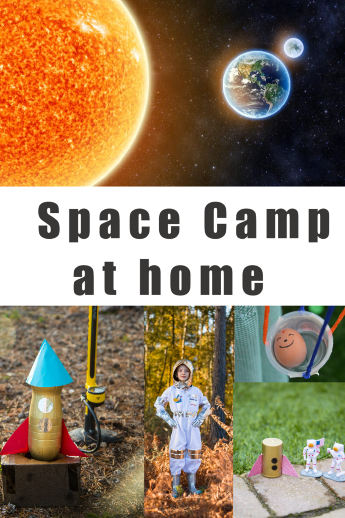 Space Science Experiments for Kids - Make a DIY Space Camp for kids in the garden this summer! #spacecamp #spacescienceforkids #spacescienceexperimenys