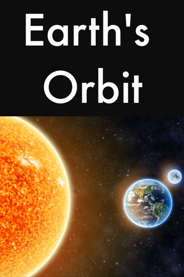 Earth's Orbit - space science for kids.Discover how the earth orbits the moon and the moon orbits earth with this fun activity #scienceforkids #spacescience