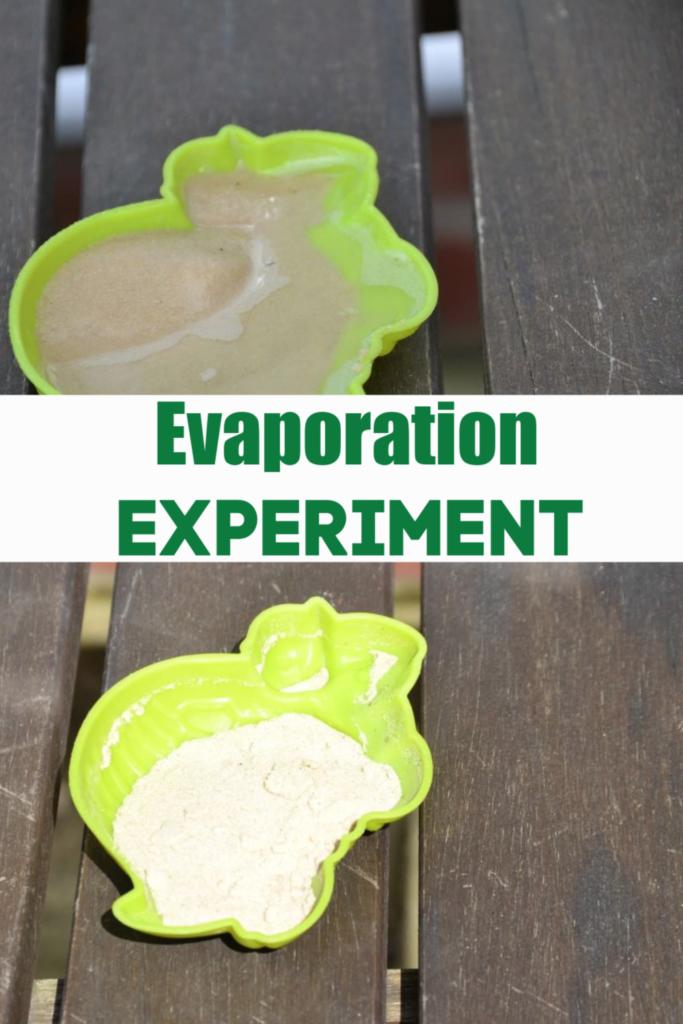 Evaporation Experiment - science for kids #evaporation