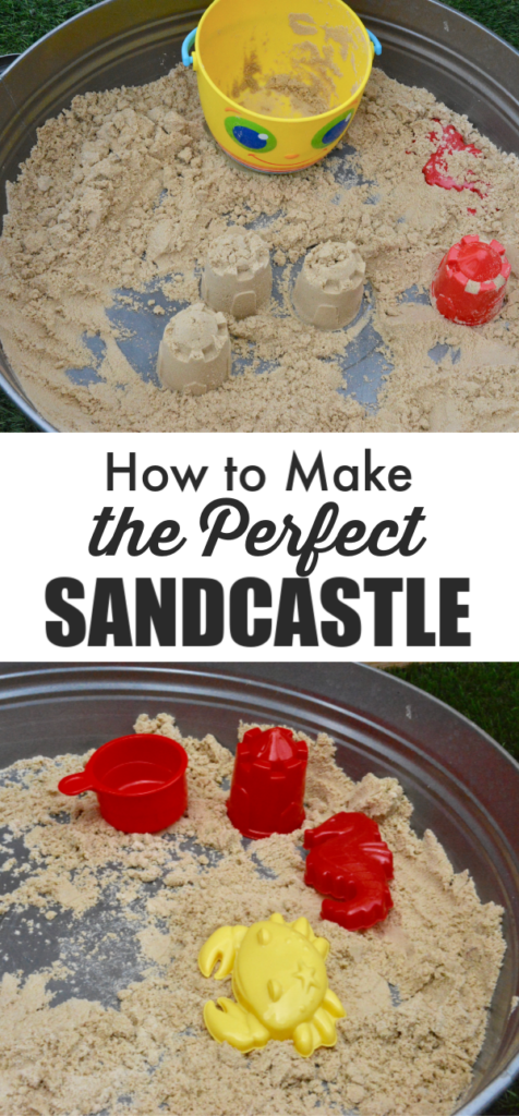 Find out the perfect sand to water ratio to make a perfect sandcastle #summerscience #scienceforkids How to make the perfect sandcastle