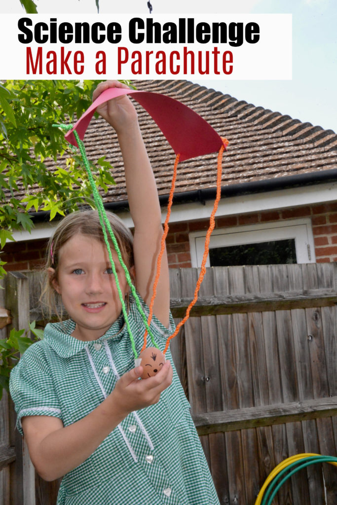 Science Challenge for kids - make a parachute for an egg #gravity #airresistance
