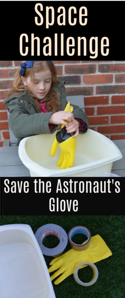 Space Science Challenge - save the astronaut's glove #spacescienceforkids #scienceforkids