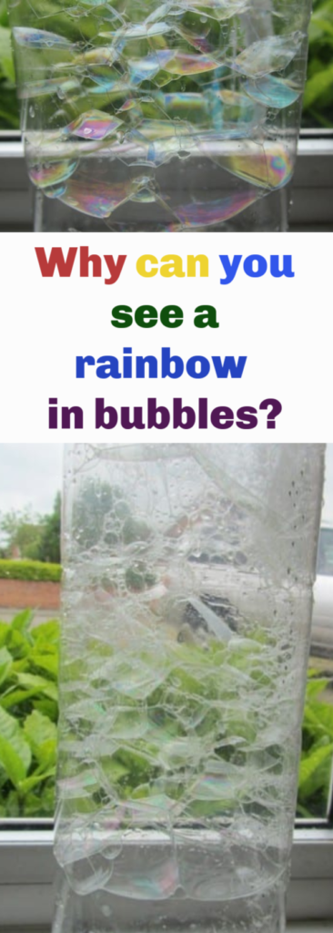 Why can you see a rainbow in bubbles? #Scienceforkids #sciencequestions