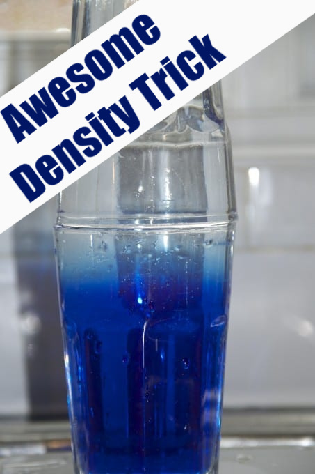 Salt and water density trick for kids - why doesn't salty water and normal water mix? #scienceforkids #scienceexperiments  #densityforkids
