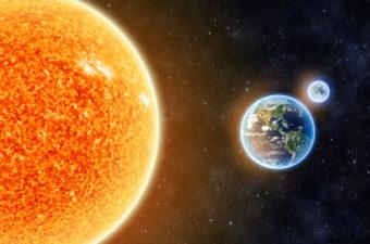 Sun, moon and Earth Image
