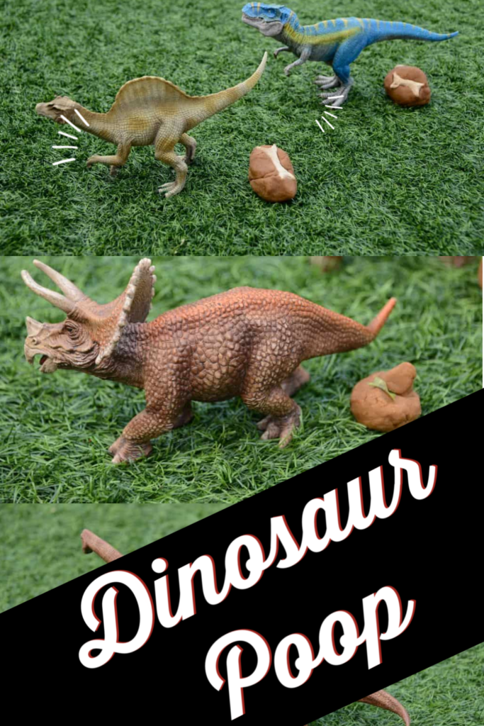 Playdough Dinosaur Poop - discover what dinosaurs ate with this fun activity making dinosaur poo! #dinosaurs #dinosaurpoo #playdough