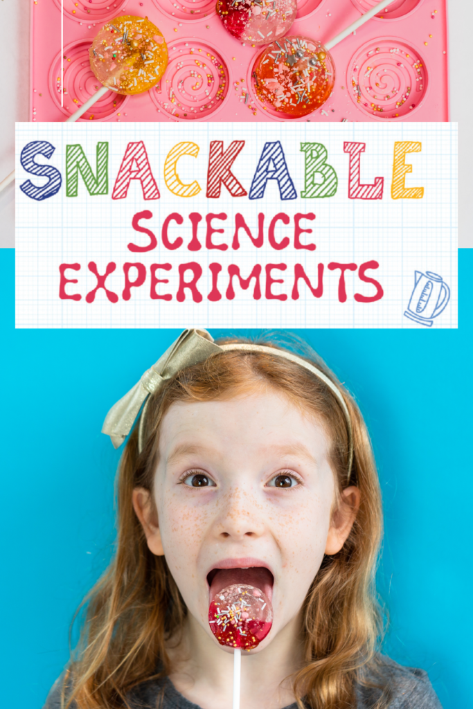 Snackable Science Experiments - 60 Edible Experiments for Kids - Book available now!! #sciencebooks #scienceforkids