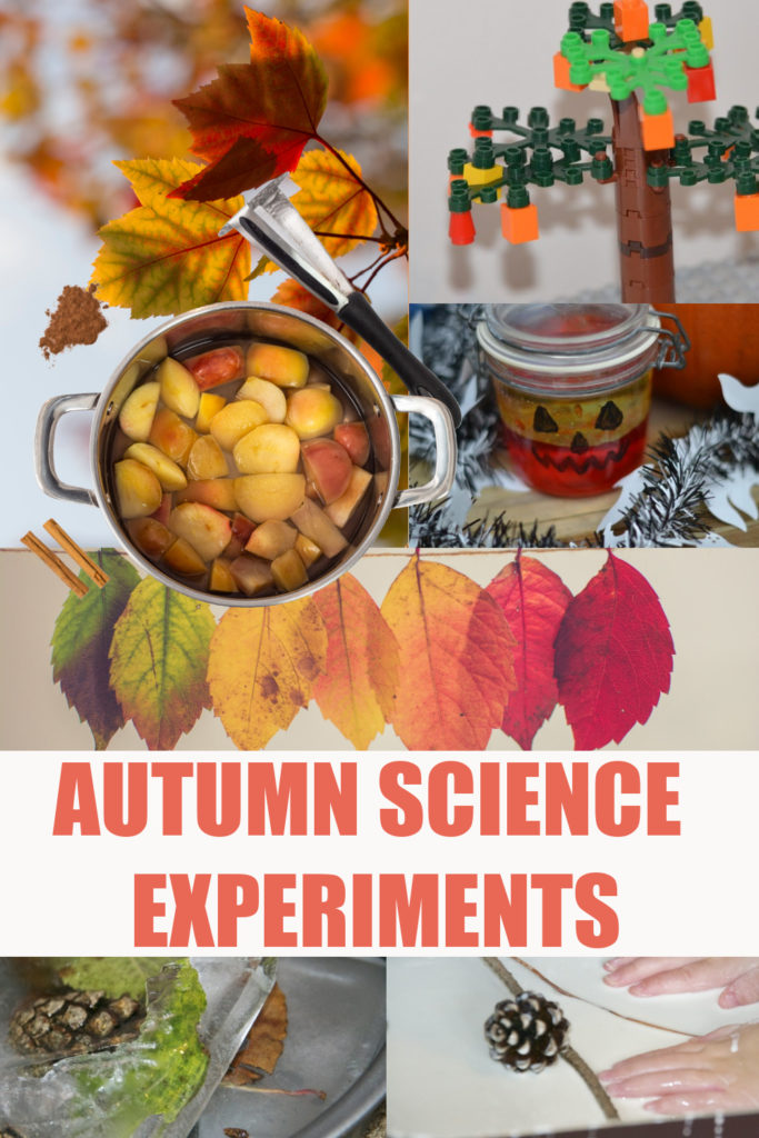 Awesome autumn science experiments for kids -  pumpkin science, trees, leaves and more easy autumn science for kids #autumnscience #fallscience #scienceforkids #seasonsactivities