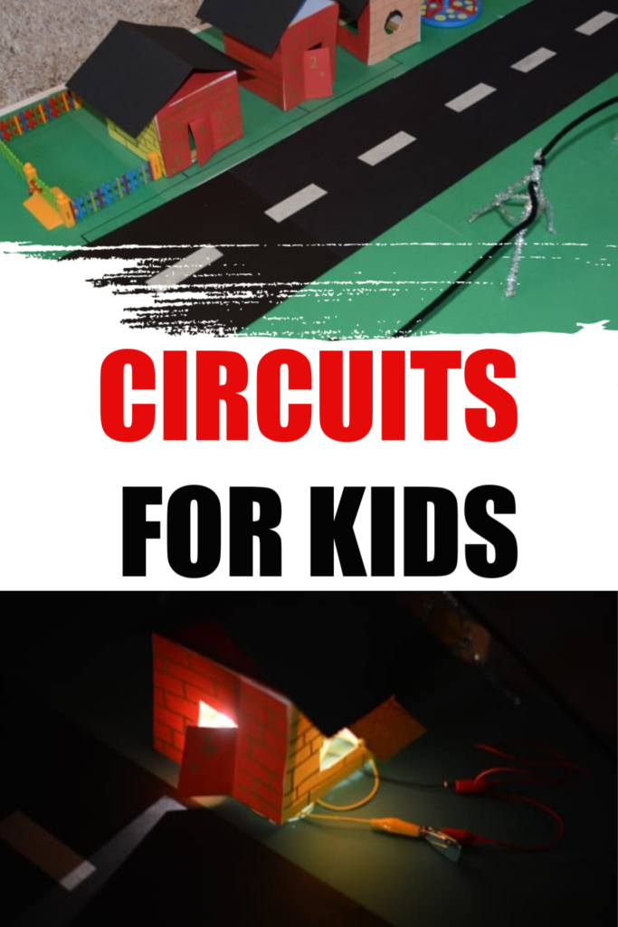 Easy electricity investigation investigation simple circuits for kids using a model street as inspiration #circuits #circuitsforkids #electricityforkids #scienceforkids #terrificscientific