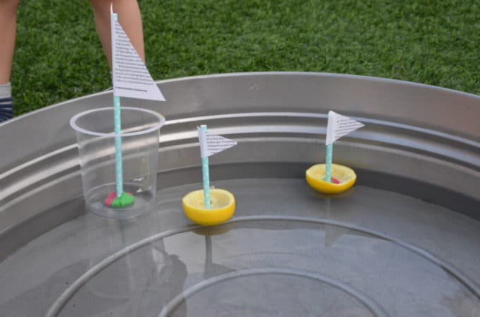 recycled boats for a preschool sink or float activity