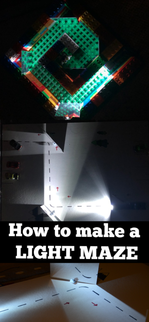 Light Maze Instructions - instructions for how to make a light maze #lightforkids #lightexperiments #scienceforkids