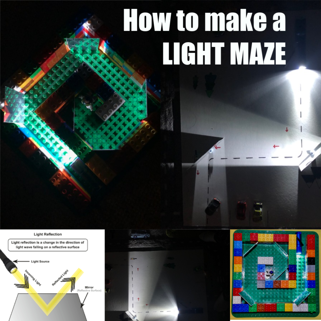 How to make a light maze #lightexperiments #scienceforkids #light #lightactivities