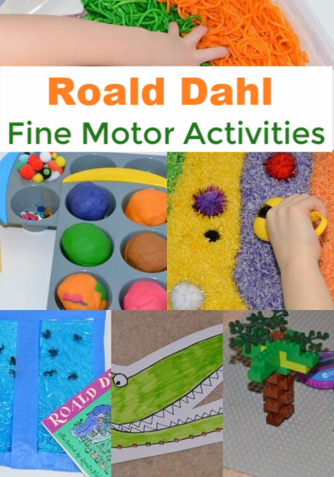 Roald Dahl Fine Motor Skill Activities - Roald Dahl themed fine motor skill activity ideas for kids #RoaldDahl #FineMotorSkills #EarlyYears