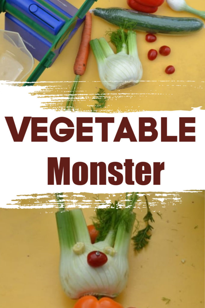 Make a spooky vegetable monster for Halloween or fall