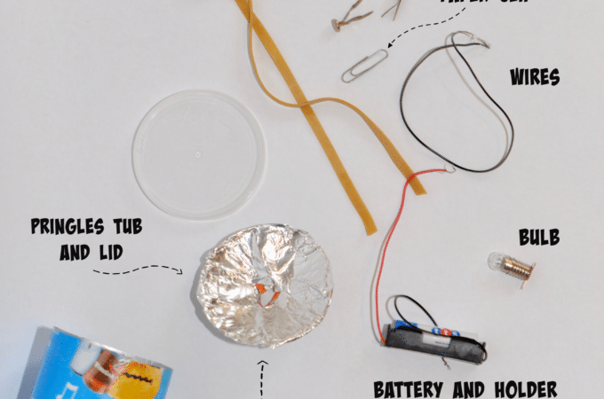 Materials for a DIY Head torch