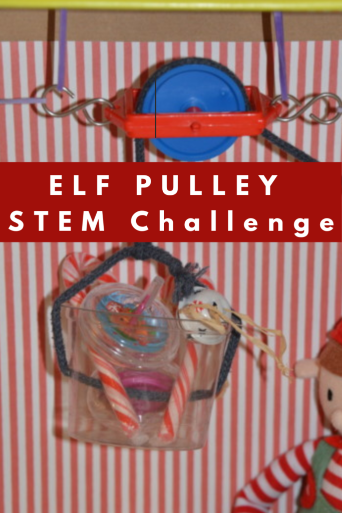 Christmas STEM Challenge - ELF Pulley  STEM Challenge #scienceforkids #STEMChallenges